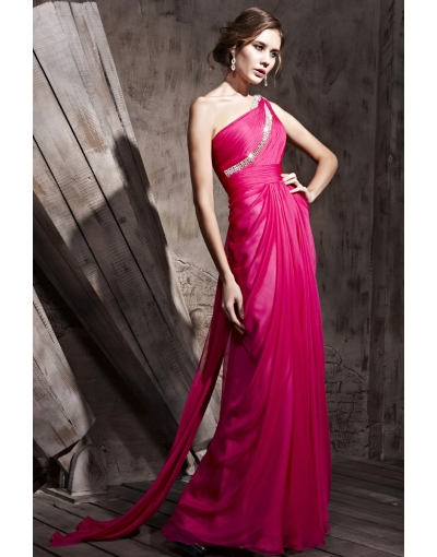 simple pure evening dress