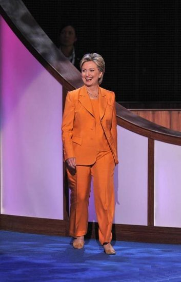 hillary clinton in orange suits