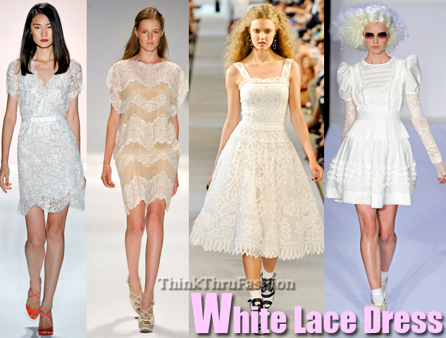 runway White-Lace-Dress