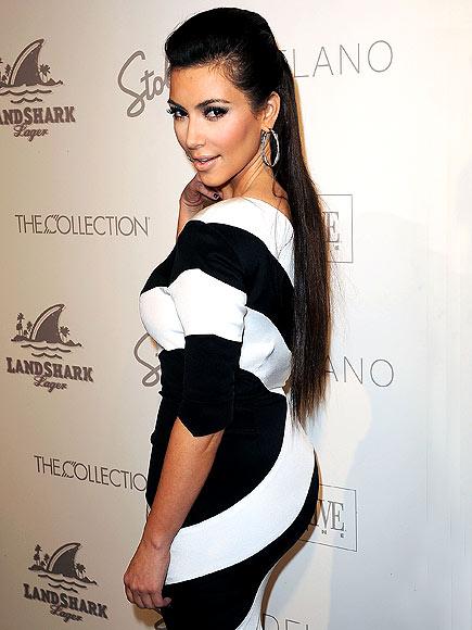 kim-kardashian-striped dress