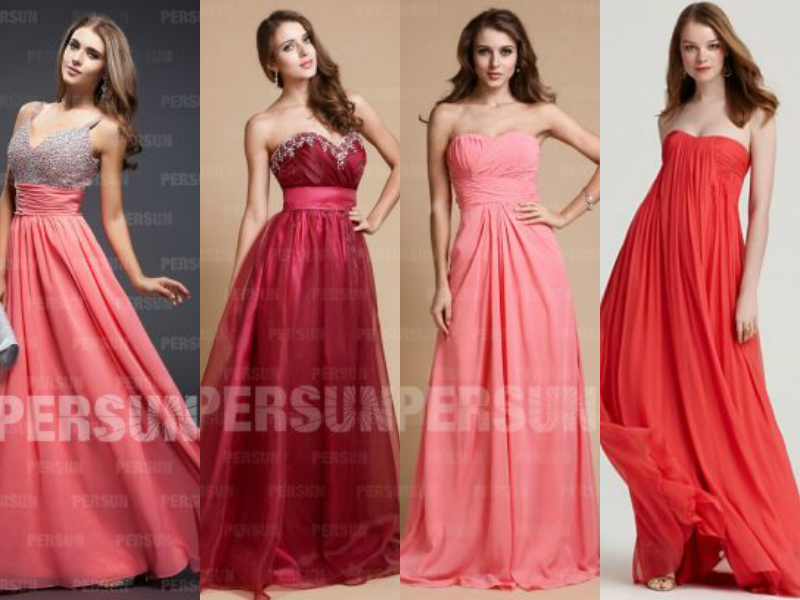 elegant red formal evening dresses