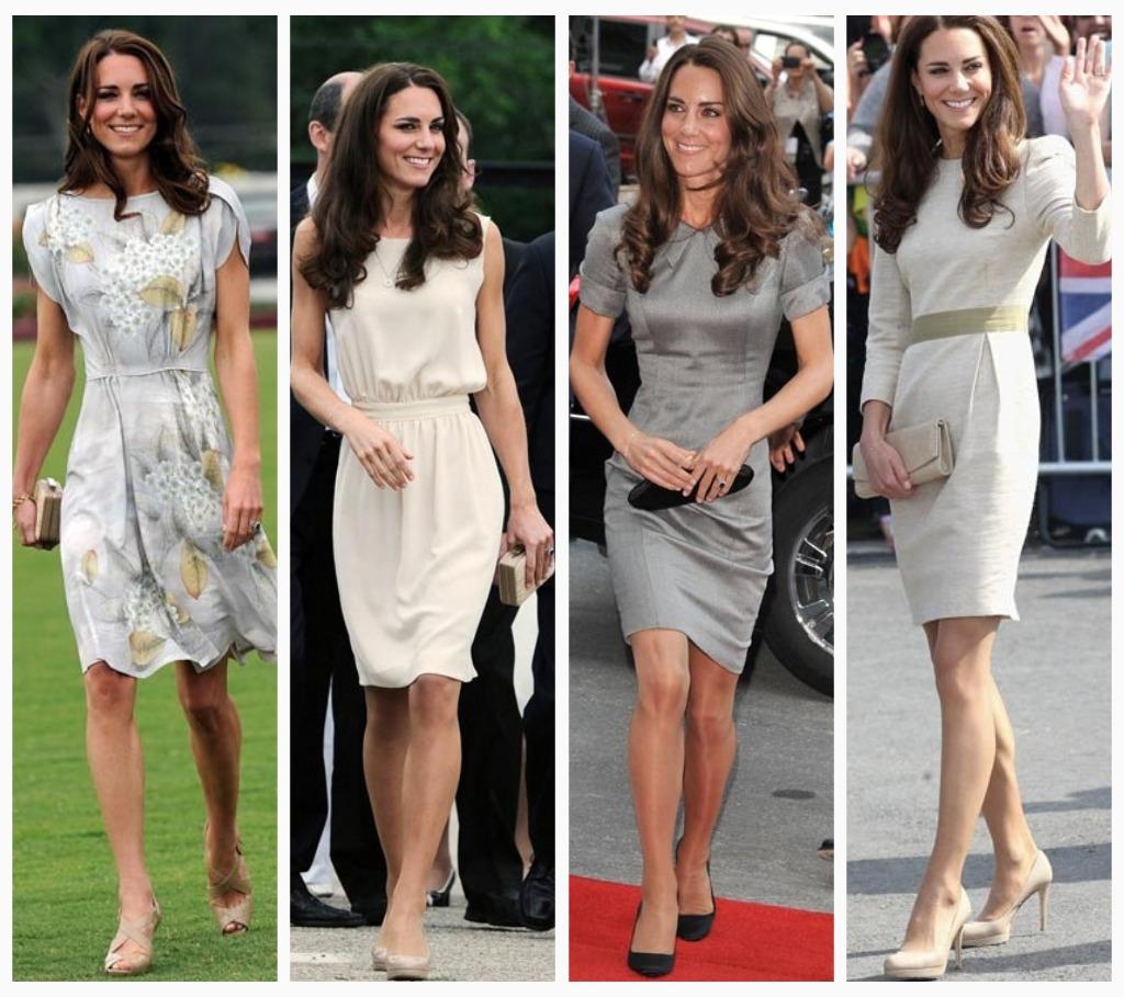robe de soirée courte la princesse Kate