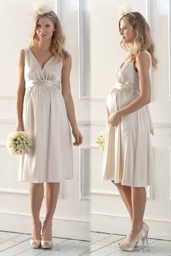 short maternity wedding gowns