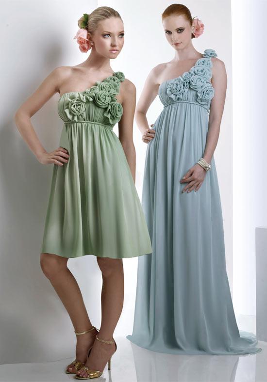 chiffon one shoulder Bridesmaid Dresses