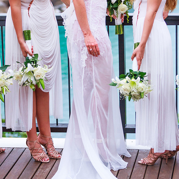 buy white bridesmaid dresses online