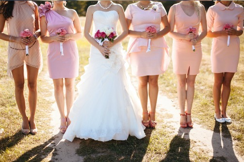 Buy cheap short bridesmaid dresses online