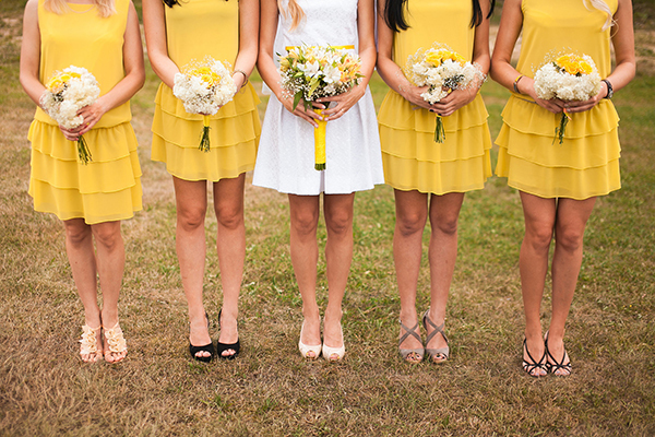 buy cheap yellow bridesmaid dresses UK online