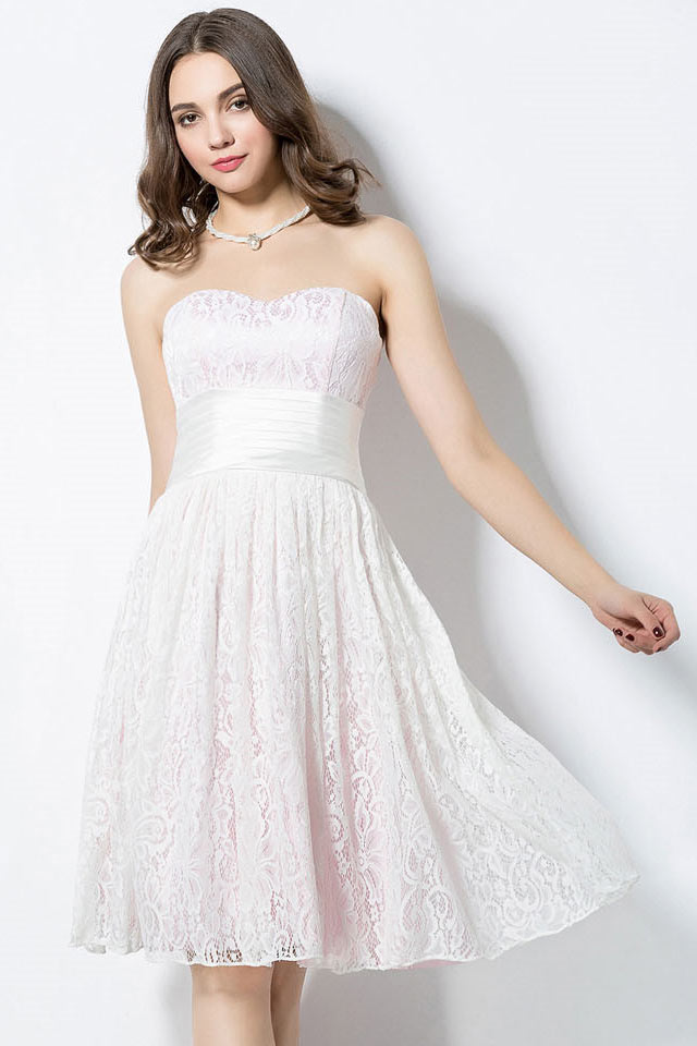 Lace Short Formal Brides Dress