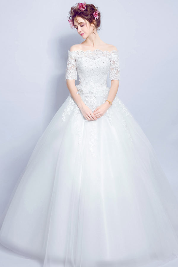 classic princess wedding dress