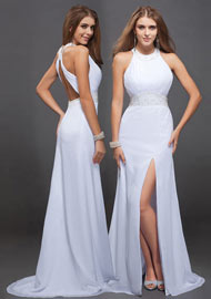 Front slit Sexy Formal Dress